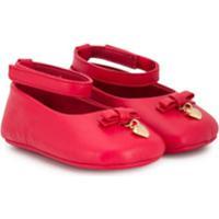 Dolce & Gabbana Kids Sapatilha Com Detalhe De Pingente - Vermelho