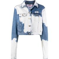 Gcds Jaqueta Jeans Com Efeito Descolorido - Azul