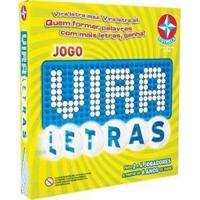 Jogo Vira Letras Tabuleiro Estrela - Unissex-Amarelo