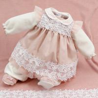 Saída De Maternidade Beth Bebê Plush Sarah Luxo Nude
