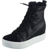 Tênis Sneaker Azahara Glitter Preto