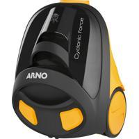 Aspirador De Pó Arno Cyclonic Force 1400W Preto E Amarelo 220V
