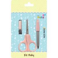 Kit Nenê Land Manicure Baby Com Tesoura Rosa - Kanui