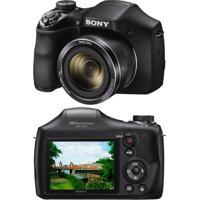 Câmera Digital Dsc-H300 20.1Mp Zoom Óptico 35X Filma Hd Foto Panorâmica Sony