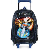 Mochilete Luxcel Hot Wheels Azul Azul