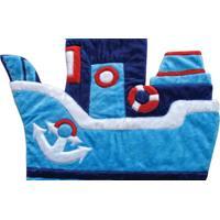 Tapete Navio Marinheiro Casa Do Bebê Azul