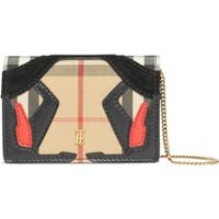 Burberry Vintage Check Wallet-On-Chain - Marrom
