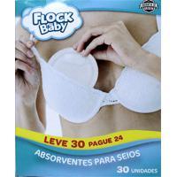 Absorvente De Seios Flock Baby Leve 30 Pague 24 Unidades