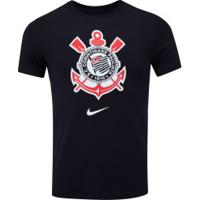Camiseta Do Corinthians Evergre Nike - Masculina - Preto