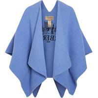 Burberry Poncho Skyline - Azul