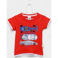 Camiseta Infantil Andritex Carros Masculina - Masculino-Vermelho
