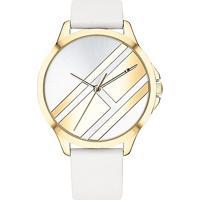 38512e4b76d Relógio Tommy Hilfiger Feminino Couro Branco - 1781965