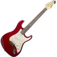 Guitarra Dolphin Stratocaster Rocket, Corpo Sólido Em Basswood, Tampo Em Flame Maple - Vermelho