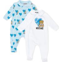 Moschino Kids Pijama Com Padronagem - Azul