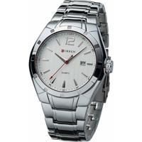 5d7152fe4e88e ... Relógio Curren Analógico 8103 Prata E Branco - Masculino-Prata+Branco