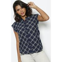 Camisa Xadrez - Azul Marinho & Verdereplay