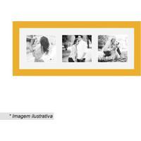 Painel Multifotos Insta- Amarelo & Branco- 15X38X1,5Kapos