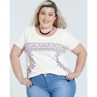 Blusa Feminina Plus Size Estampa Frontal Marisa