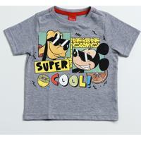 Camiseta Infantil Manga Curta Mickey Disney