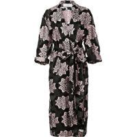 Julien David Printed Kimono Coat - Preto