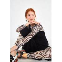 Macacao Tule Deu Zebra