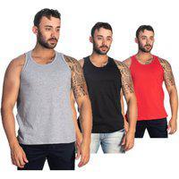 Camiseta Cavada Kit 3 Regatas Treino Mega Promoção Selten