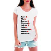 Blusa T-Shirt Camiseta Criativa Urbana Seriado Nomes - Feminino