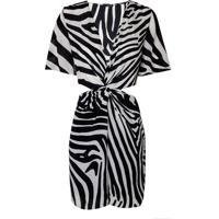 Vestido Helena Seda Zebra (Zebra P & B, 40)