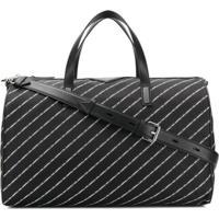 Karl Lagerfeld Mala De Mão 'K/Stripe' Com Logo - Preto