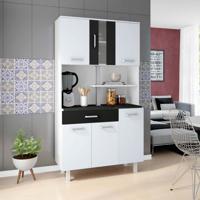 Cozinha Compacta Atenas 6 Pt 1 Gv Branco E Preto