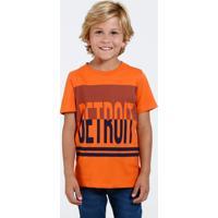 Camiseta Infantil Estampa Frontal Marisa