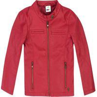 Jaqueta Com Recortes & Bolsos- Vermelhapuc