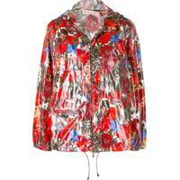 Marni Jaqueta Floral Com Zíper - Vermelho