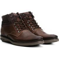 Sapato Social Couro Pegada Masculino - Masculino-Café
