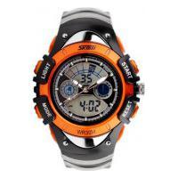 Relógio Skmei Infantil -0998- Preto E Laranja