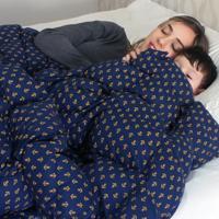 Cobertor Ponderado Artesanal Azul - Pequeno - 1,5 M X 1,4 M