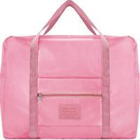 Bolsa De Viagem- Rosa- 36,5X42X20Cm- Jacki Desigjacki Design