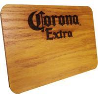 Tábua De Madeira Corona Extra 24,5 X 17,5 Cm Personalizada - Unissex