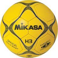 Bola De Handebol H3 Padrão Ihf Mikasa - Masculino-Amarelo