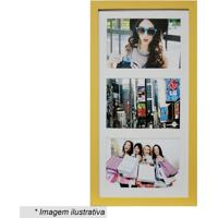 Painel Multifotos Insta- Amarelo & Branco- 38X21X1,5Kapos
