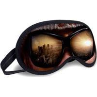 Máscara De Dormir Tritengo Óculos - Unissex-Bege+Preto
