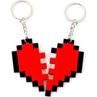 Chaveiro Geek10 Nosso Coração Vermelho