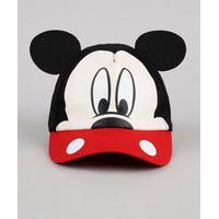 Boné Infantil Carnaval Aba Curva Mickey Com Orelhas Preto