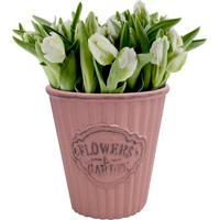 Cachepot Urban Home De Cerâmica Rosa Cute Pleat Bucket N