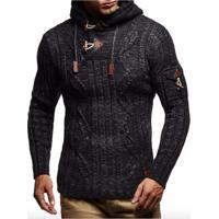 Cardigan Masculino Knit Button - Cinza Escuro G