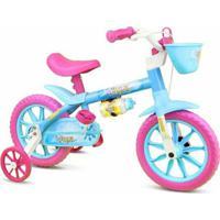 Bicicleta Infantil Menina Aro 12 Aqua Nathor - Feminino