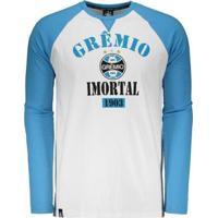Camiseta Grêmio Raglan Imortal Masculina - Masculino