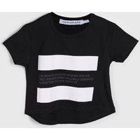 Blusa Calvin Klein Kids Infantil Color Block Preta