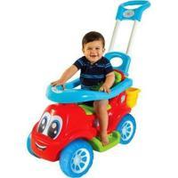 Carrinho De Passeio Infantil Little Truck 3X1 Com Empurrador - Masculino-Azul+Vermelho