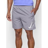 """Bermuda Nike Dri-Fit Run Short 7"""" Gx Masculina - Masculino-Cinza"""